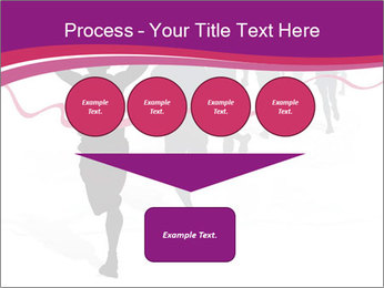 Group of marathon runners PowerPoint Template - Slide 93