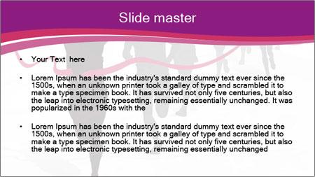 Group of marathon runners PowerPoint Template - Slide 2