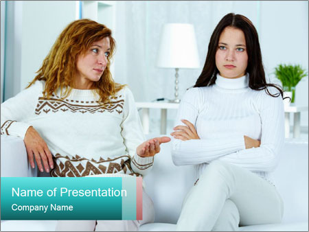 Photo of pretty woman PowerPoint Template