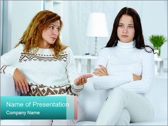 Photo of pretty woman PowerPoint Template - Slide 1