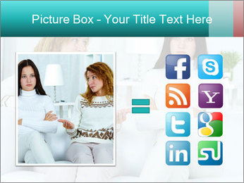 Photo of pretty woman PowerPoint Template - Slide 21