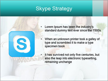 Photo of pretty woman PowerPoint Template - Slide 8