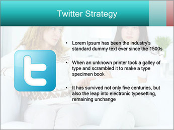 Photo of pretty woman PowerPoint Template - Slide 9