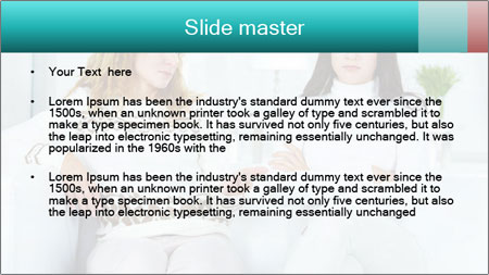 Photo of pretty woman PowerPoint Template - Slide 2