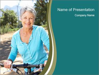 Senior woman PowerPoint Template
