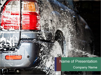 Carwash PowerPoint Template - Slide 1