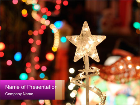 Christmas lights PowerPoint Templates
