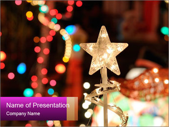 Christmas lights PowerPoint Templates - Slide 1