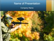 Paintball sport player PowerPoint Templates