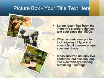 Paintball sport player PowerPoint Template - Slide 17