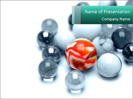 One bright marble standing PowerPoint Templates