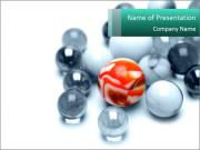 One bright marble standing PowerPoint Template
