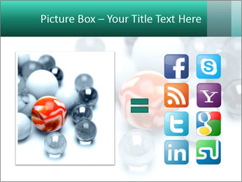 One bright marble standing PowerPoint Templates - Slide 21
