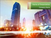The light trails PowerPoint Template