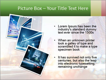 The light trails PowerPoint Template - Slide 17