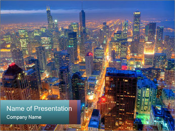 Chicago Skyline PowerPoint Template - Slide 1