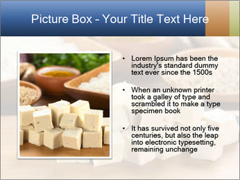 Raw tofu cut in dices PowerPoint Template - Slide 13