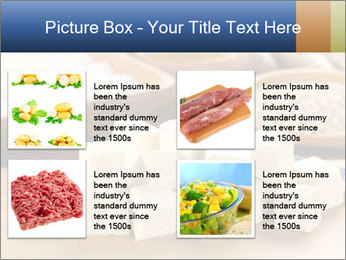 Raw tofu cut in dices PowerPoint Template - Slide 14