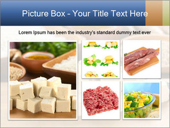 Raw tofu cut in dices PowerPoint Template - Slide 19