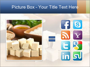 Raw tofu cut in dices PowerPoint Template - Slide 21