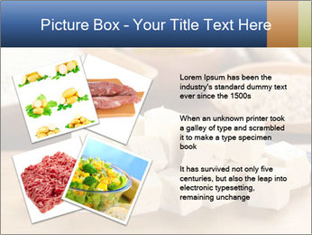 Raw tofu cut in dices PowerPoint Template - Slide 23