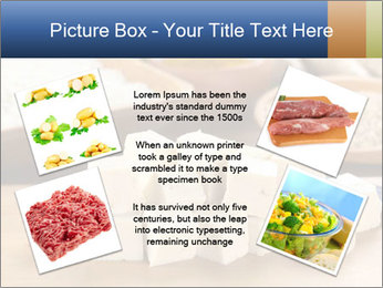Raw tofu cut in dices PowerPoint Template - Slide 24