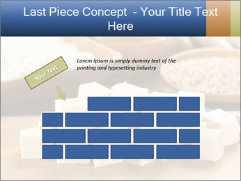 Raw tofu cut in dices PowerPoint Template - Slide 46