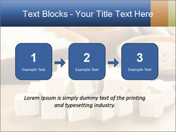 Raw tofu cut in dices PowerPoint Template - Slide 71