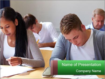 Assessment center PowerPoint Template