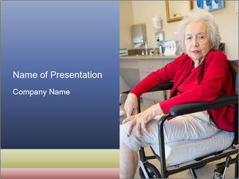 Woman waiting for her doctor PowerPoint Template - Slide 1