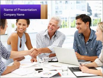 Business meeting PowerPoint Template - Slide 1