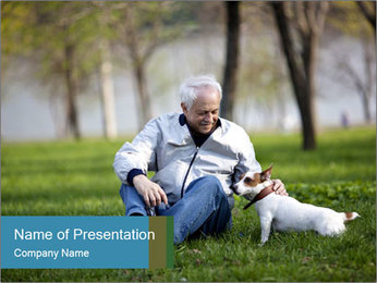 Jack russel terrier PowerPoint Template - Slide 1