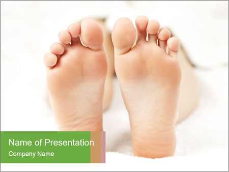 Soles of soft female PowerPoint Template