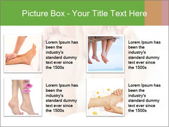 Soles of soft female PowerPoint Template - Slide 14