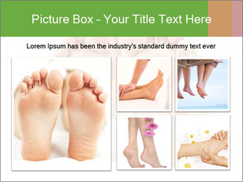 Soles of soft female PowerPoint Template - Slide 19