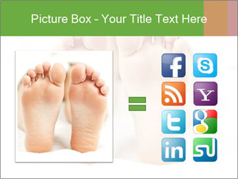Soles of soft female PowerPoint Template - Slide 21