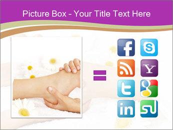 Female massage foot PowerPoint Template - Slide 21