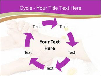 Female massage foot PowerPoint Template - Slide 62