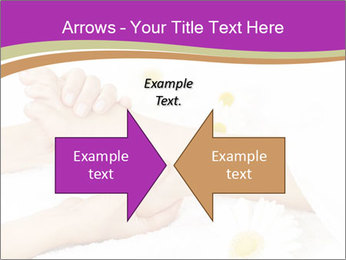 Female massage foot PowerPoint Template - Slide 90