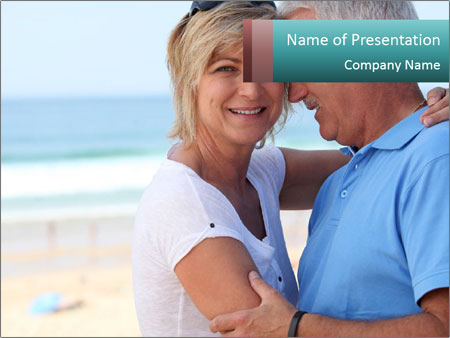 Middle-aged couple PowerPoint Template