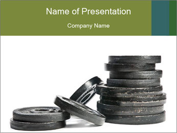 Weights PowerPoint Template - Slide 1
