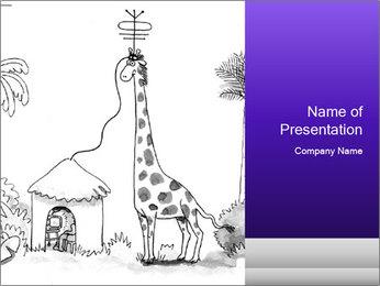 Utilizing giraffe's Modèles des présentations  PowerPoint