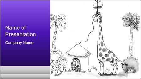Utilizing giraffe's PowerPoint Template