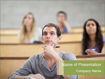 Serious students PowerPoint Template