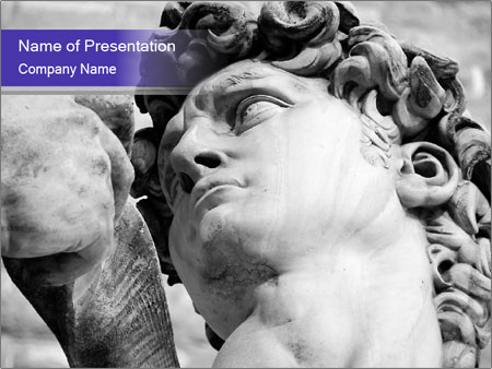 Statue of David PowerPoint Template