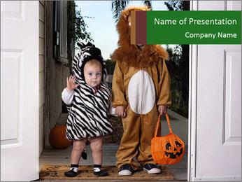 Halloween PowerPoint Template - Slide 1