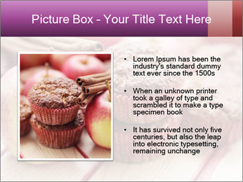Delicious muffins with apple PowerPoint Template - Slide 13