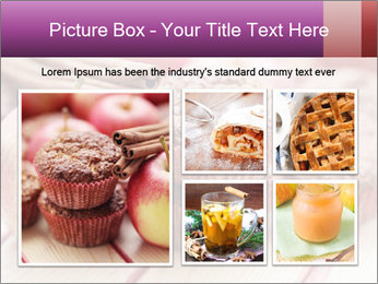 Delicious muffins with apple PowerPoint Template - Slide 19