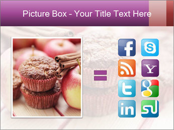 Delicious muffins with apple PowerPoint Template - Slide 21