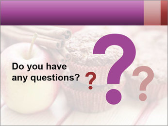 Delicious muffins with apple PowerPoint Template - Slide 96